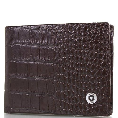 Кожаный мужской кошелек с зажимом для купюр KARYA (КАРИЯ) SHI0945-10KR  Коричневый