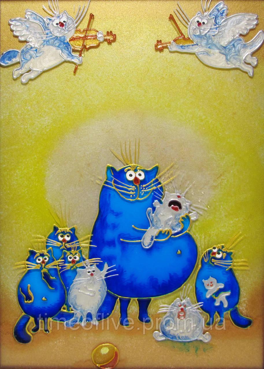 "Картина на стекле ""дружная семейка"" - Time of live в Одессе"