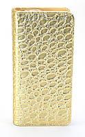 Стильный золотистый горизонтальный женский кошелек-клатч на молнии FUERDANNI art. 680, фото 1
