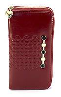 Красный лаковый горизонтальный женский кошелек-клатч на молнии FUERDANNI art. 9013