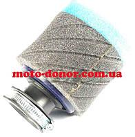"""Фильтр воздушный (нулевик, поролон)   Ø35mm   """"AS""""   (mod:1, черно-синий)"""