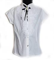 """Блуза школьная для девочки """"Жабо"""""""