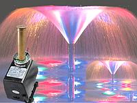 Насос для фонтана с подсветкой и насадкой Петуния 45Вт  2500л/ч