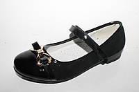 Школьная нарядная обувь оптом. Туфли для девочек от фирмы Lilin Shoes A116 черный (32-37)