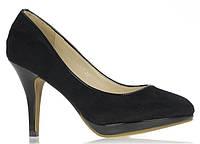 Стильные Стильные и удобные женские туфли, лодочки  черного цвета на небольшом каблуке! Очень легкие.