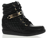 Женские сникерсы на платформе  черного цвета! Очень модные! размер 38-41