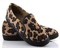 Мега удобные Женские слипоны, мокасины, эспдрильи  с леопардовым принтом! размеры 36,40,41