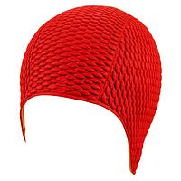 Женская шапочка для плавания BECO красный 7300 5