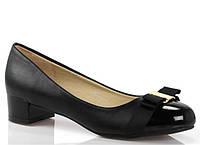 Стильные Стильные и удобные женские туфли, лодочки  черного цвета на низком каблуке! размер 38