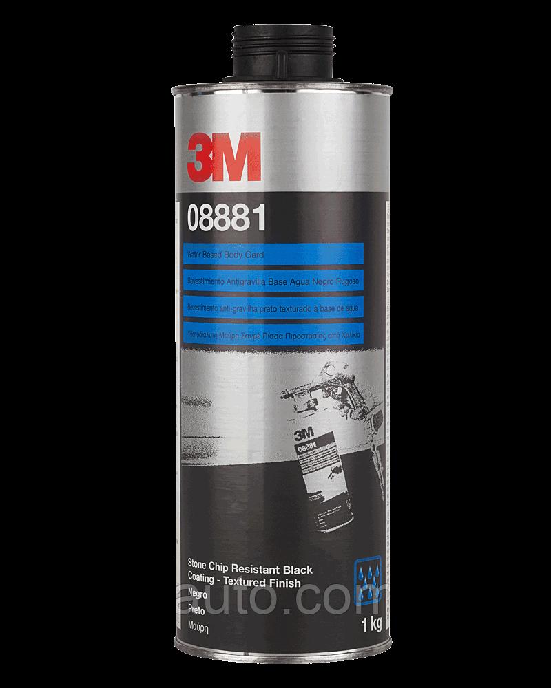Антигравийное покрытие 3М 08881 на водной основе 1л, черное