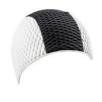 Мужская шапочка для плавания BECO белый/чёрный 7330 10