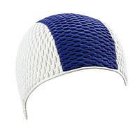 Мужская шапочка для плавания BECO белый/синий 7330 17