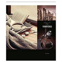 Тетрадь ученическая УФ-лак 36 листов, клетка, Школярик    №036-2188K