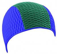 Мужская шапочка для плавания BECO синий/зелёный 7330 78