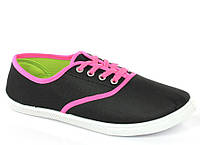 Стильные и удобные Женская спортивная обувь, кеды, конверсы, высокие, классические и низкие  черного цвета!