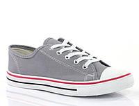 Стильные и удобные Женская спортивная обувь, кеды, конверсы, высокие, классические и низкие  серого цвета!