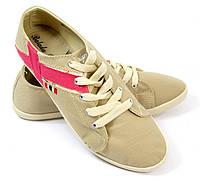 Стильные и удобные Женская спортивная обувь, кеды, конверсы, высокие, классические и низкие  бежевого цвета!
