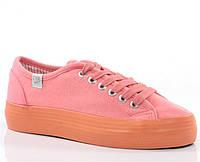 Яркие Женская спортивная обувь, высокие, классические и низкие  кораллового цвета размеры 38,40