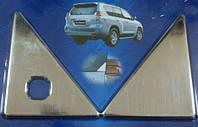Хром накладки на крышку багажника для Prado 150