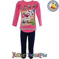 Костюм с розовой кофтой и лосинами для девочек от 5 до 8 лет (4465-3)