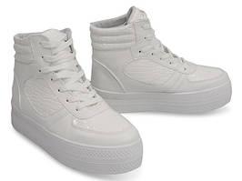 Женские криперсы, ботинки высокие на каждый день белые