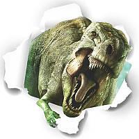 Наклейка виниловая Пейзаж парк Юрского периода 3D декор