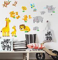 Наклейка виниловая Животный мир 3D декор