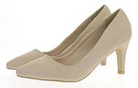 Стильные и удобные женские туфли, лодочки  на низком каблучке