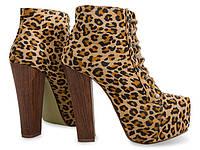 Леопардовые полуботинки на каблуке