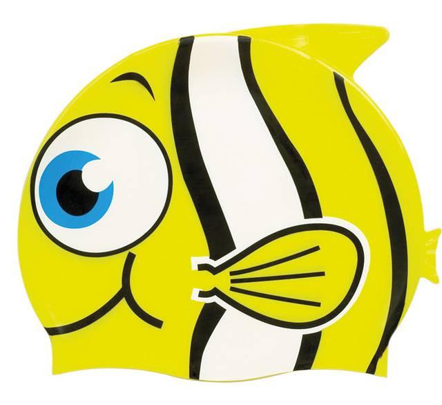 Детская шапочка для плавания BECO жёлтая рыбка 7394 2