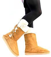 Зимняя женская обувь, угги текстильные  размер 38,5