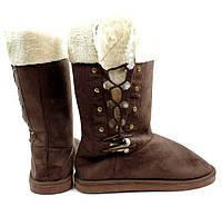 Зимняя женская обувь, угги коричневого цвета