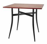 Стол TRACY black - столешница ДСП квадратная