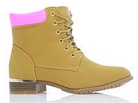 Женские ботинки, ботильоны от производителя с Польши, от 36-41 размер  SILVIA camel