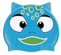 Детская шапочка для плавания BECO голубой динозаврик 7394 66