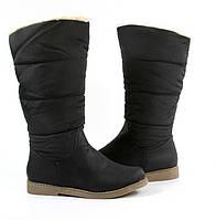 Женские сапоги, полусапожки, из качественных материалов от производителя сезон осень, зима TRISTEN Black