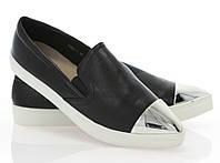 Модная и стильная женская обувь слипоны на танкетке и платформе ADELIA