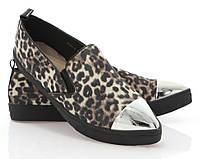 Модная и стильная женская обувь слипоны на танкетке и платформе ALAYNA