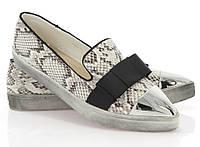 Модная и стильная женская обувь слипоны на танкетке и платформе ALBAN