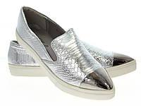 Модная и стильная женская обувь слипоны на танкетке и платформе ANGELICA