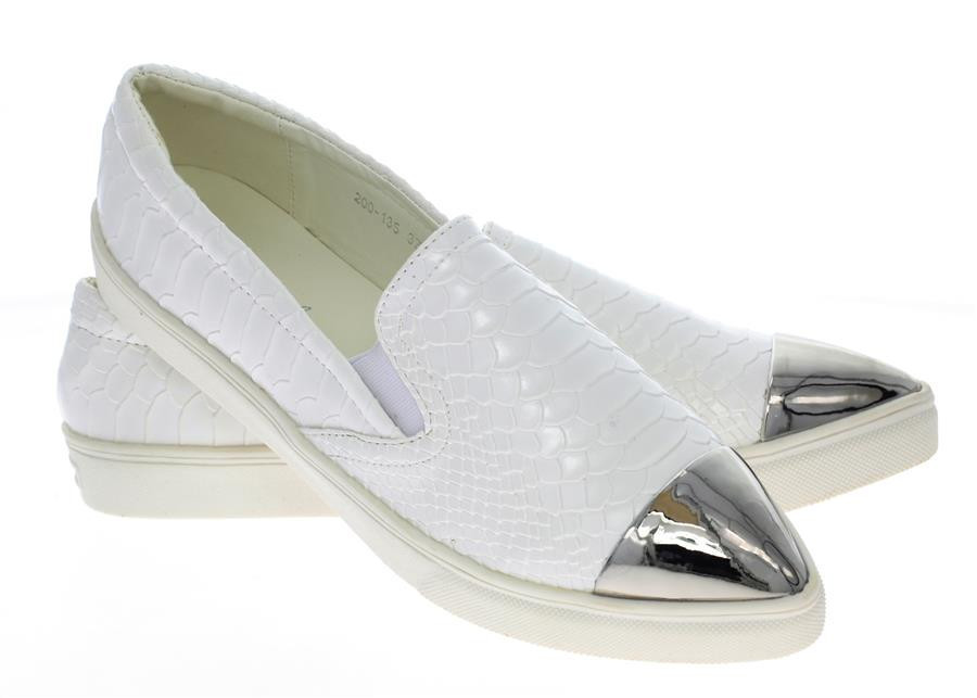 Модная и стильная женская обувь слипоны на танкетке и платформе AUSTEN White - Naff.com.ua- товары для всей семьи. в Киеве