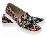 Модная и стильная женская обувь слипоны на танкетке и платформе AUSTIN  размеры 36-40