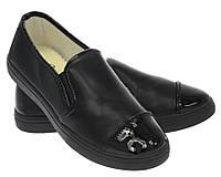 Модная и стильная женская обувь слипоны на танкетке и платформе AVELINE