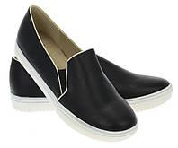 Модная и стильная женская обувь слипоны на танкетке и платформе AUTUMN