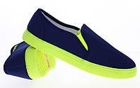 Модная и стильная женская обувь слипоны на танкетке и платформе BUD d.blue
