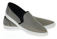 Модная и стильная женская обувь слипоны на танкетке и платформе BUD GOLD