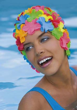 Женская шапочка для плавания BECO пастельно-желтый 7430 22, фото 2