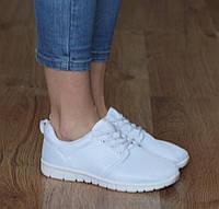 Женская кроссовки, кеды для спорта белого цвета