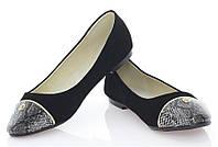 Классические женские туфли без каблука   размеры 37,39