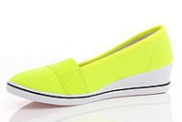 Балетки женские, туфли-балеткина удобной подошве от производителя размеры от 36 до 41желтого цвета на каждый день